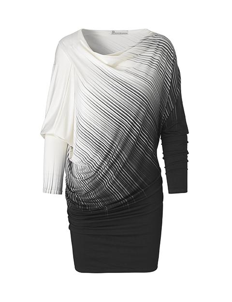 Anna kjole i sort og hvid af Johanne Rubinstein