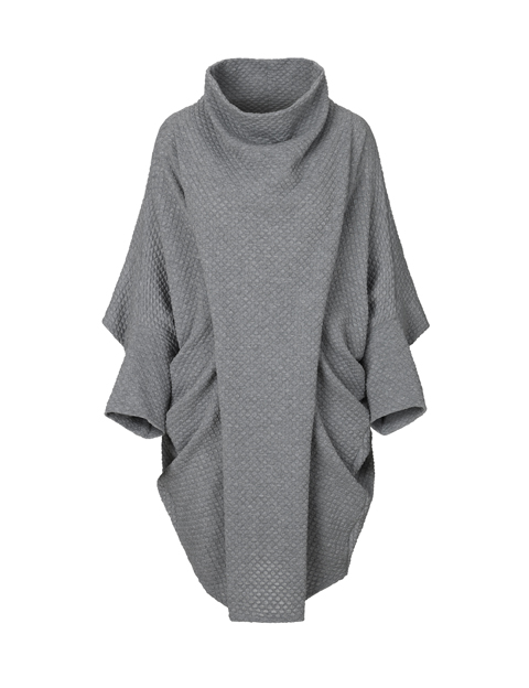 Collar dress in grey by Johanne Rubinstein
