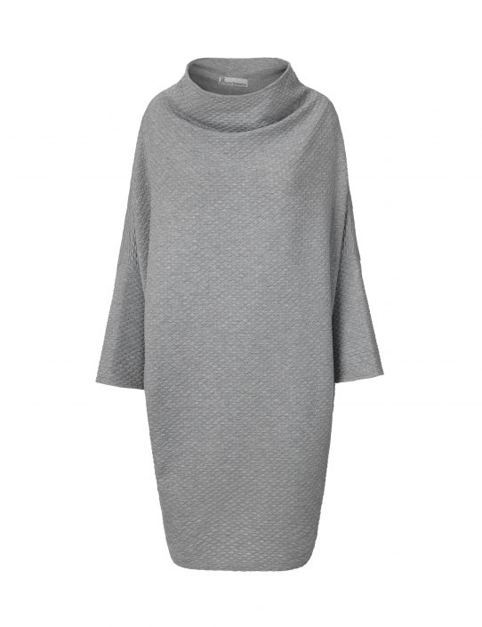 Collar dress in grey without fold by Johanne Rubinstein
