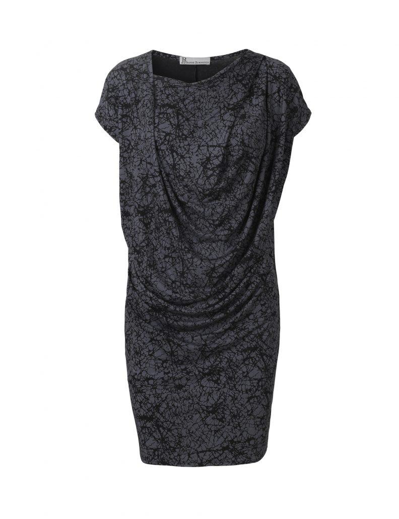 Lene dress in gray cracks by Johanne Rubinstein