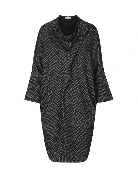 Zig Zag dress in black and white by Johanne Rubinstein