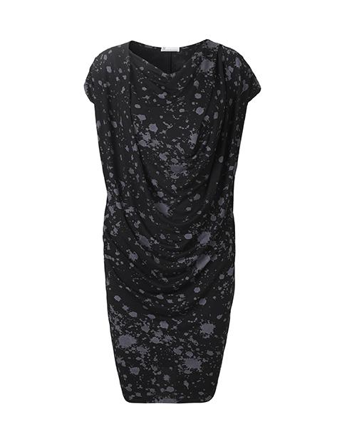 Lene dress grå splat by Johanne Rubinstein