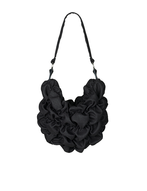 lille sort stof taske af Johanne Rubinstein