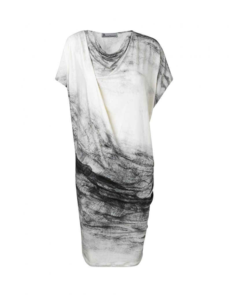 Anja dress with grey white cracks by Johanne Rubinstein
